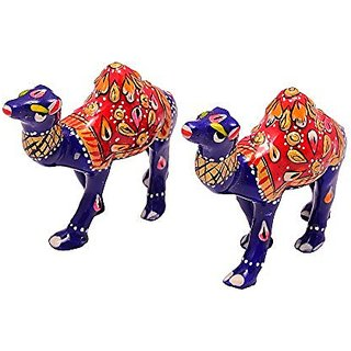 Royal Arts And Crafts Decorative Handmade Rajasthani Show Piece Of Metal Camel For Deacutecor Your Home And Gifting Pake Of -2