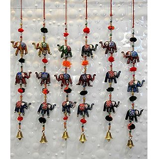 Royal Arts And Crafts Special Diwali Home Decorative Handmade Rajasthani Elephant Door Hanging For Home Deacutecor Pake Of- 20 Door Hanging ( 3 Elephant Each line )