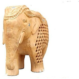 Royal Arts And Crafts Beautiful Handmade Rajasthani Show Piece Of Wooden Elephant Jali Work For Home Deacutecor And Gifting
