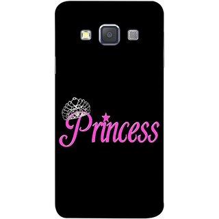 FUSON Designer Back Case Cover for Samsung Galaxy A7 (2015) :: Samsung Galaxy A7 Duos (2015) :: Samsung Galaxy A7 A700F A700Fd A700K/A700S/A700L A7000 A7009 A700H A700Yd (Silver Crown Of Princess Prince King Baby Pink)