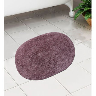 Voilet Cotton 24 x 16 Inch Bath Mat - Set of 1 by Azaani