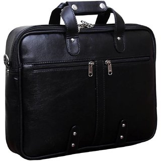 Home Story Synthetic Leather 15.6 Black Laptop Briefcase