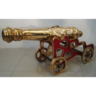 Vintage Style Cannon With Stand  Brass  Heavy & Large - Best Collection