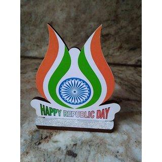 love4ride Lotus Shape Indian Flag for Car Dashboard