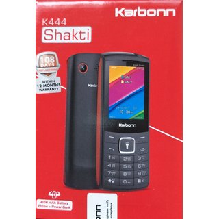 Karbonn K444 Shakti Dual SIM Basic Phone (Black Red)
