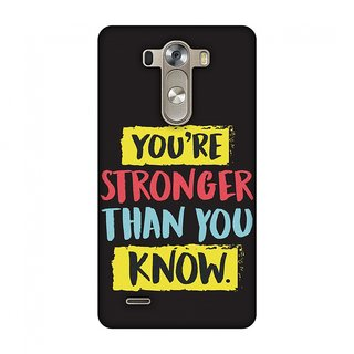 LG G3 D855 Designer Case You Are Stronger Than.. for LG G3 D855