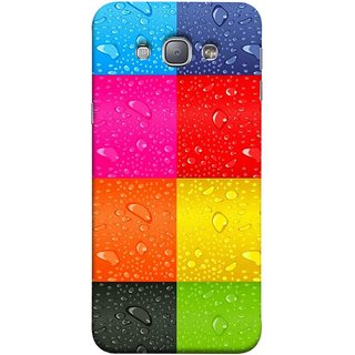 FUSON Designer Back Case Cover for Samsung Galaxy A8 (2015) :: Samsung Galaxy A8 Duos (2015) :: Samsung Galaxy A8 A800F A800Y (Water Droplets Multicolour Blue Red Pink Sky )