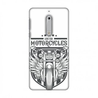 Nokia 5 Designer Case Love for Motorcycles 3 for Nokia 5
