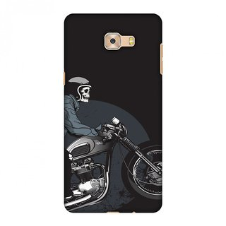 Samsung Galaxy C7 Pro Designer Case Love for Motorcycles 2 for Samsung Galaxy C7 Pro
