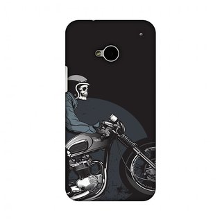 HTC One M7 Designer Case Love for Motorcycles 2 for HTC One M7