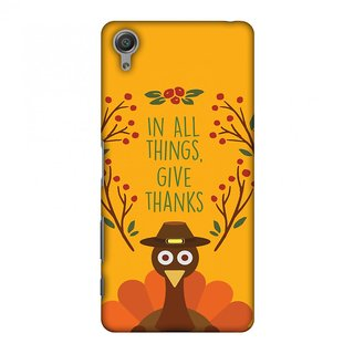 Sony Xperia X Thanksgiving Designer Case Wise Turkey 1 for Sony Xperia X