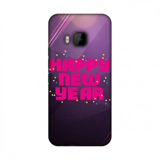 HTC One M9 Designer Case Happy New Year for HTC One M9