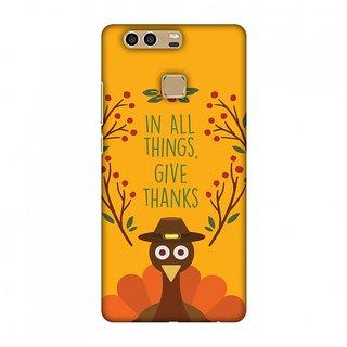 Huawei P9 Thanksgiving Designer Case Wise Turkey 1 for Huawei P9