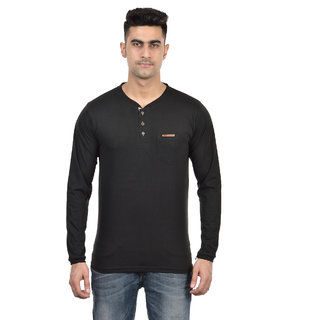 DFH Polyster Cotton MEN BLACK FULL SLEEVES TSHIRT