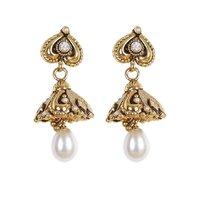 Rajwada Arts Fancy Oxidized Earring With White Stone