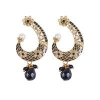 Rajwada Arts Fancy Earring With Black And White Stone
