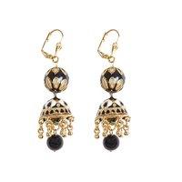 Rajwada Arts Trendy Black Color Drop Earrings