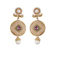 Rajwada Arts Fancy Drop Earring With White Stone And Pearls