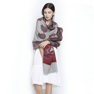 FRAAS Ethinc Paisley Cutwork wool jacquard