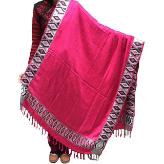 Kashmiri Womens Woolen Side Embroided Shawl-Quality Product