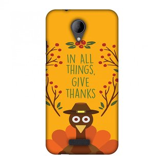 Micromax Canvas Pace 4G Q416 Thanksgiving Designer Case Wise Turkey 1 for Micromax Canvas Pace 4G Q416