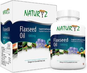 Naturyz Flaxseed Oil ( 3-6-9) 1000 mg -60 Softgel Capsules