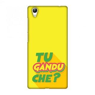 Vivo Y51,Vivo Y51L Designer Case Tu Gandu Che? for Vivo Y51,Vivo Y51L