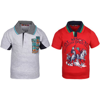 c8abb5e43cf Buy HAIG-DOT Cotton Half Sleeves Tshirts For Boys (Pack Of 2) Online - Get  58% Off
