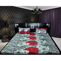 100% Cotton Floral Double Bedsheet With 2 Pillow Covers