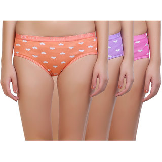 1fabdabd7e110 Buy Maroon Multi Color Cotton Set of 3 Women s Panty Combo Online ...