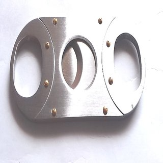 Double Guillotine Cigar Cutter, Chrome