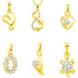 Meia Non Plated TraditionalEthnic 6 Pendant Set For Women