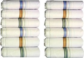 Set Of 6 Pc Premium Quality Men's Pure Cotton Hanky/ Handkerchief