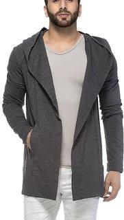 Veirdo Men's Plain Cotton Blend Cardigan Shrug