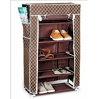 Anva Shoe Rack 4 Layer with Cover