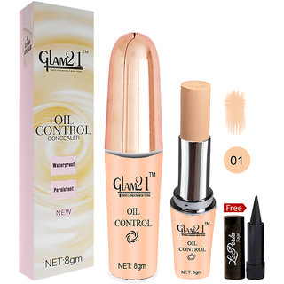 Glam21 Oil Control Concealer CL1014-01 With Free LaPerla Kajal