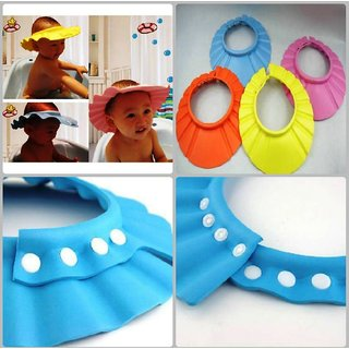 Adjustable Baby Safety Shampoo Shield Hat, kid's bath Shower cap, Hair Cut