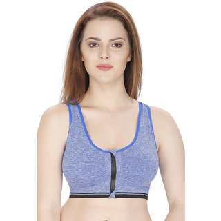 Modern Girl's Blue Front Open Padded Bra (Removel Pads)