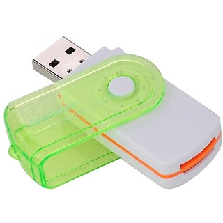 Swivel Rotatable USB 2.0 All In One USB Multislot Memory Card Reader SD/MMC/RS-MMC/MS/M2/TF
