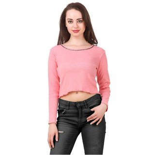2f7179f88e2967 Buy Fairiano Cotton Rib Cropped Party Top Online - Get 64% Off