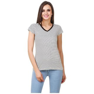 4611623a51a67b Buy Fairiano Viscose Black Stripped Top Online - Get 56% Off