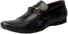 Fausto Men'S Black Open Loafers