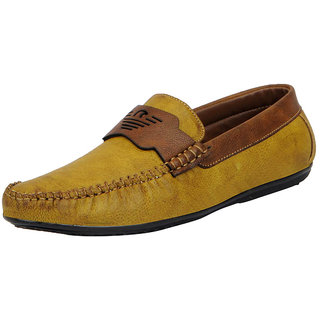 Fausto MenS Tan Open Loafers