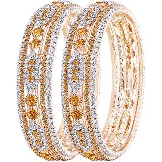 Asmitta Splendid Gold Plated LCT Stone Bangle Set For Women