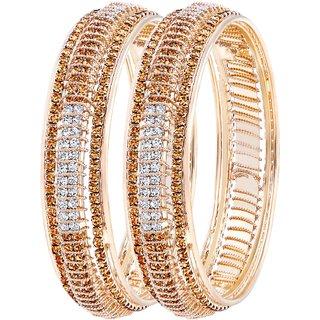 Asmitta Ravishing Gold Plated LCT Stone Bangle Set For Women
