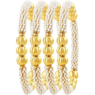 Asmitta Incredible Gold Plated Set Of 4 Bangles For Women