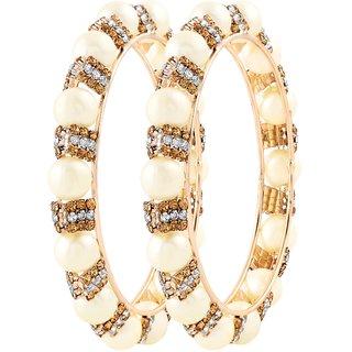 Asmitta Marvellous Gold Plated LCT Stone Bangle Set For Women