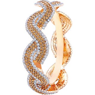 Asmitta Classic Gold Plated LCT Stone Kada For Women
