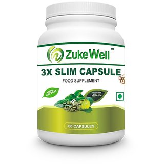 Slim Capsule 500 mg (60 Pure Veg Capsules) For Weight Loss-Pack of 1