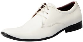 Fausto Men'S White Formal Lace-Up Shoes - 122819297